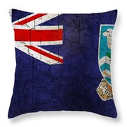 Grunge Falkland Islands Flag Throw Pillow