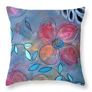 Grunge Floral II Throw Pillow