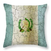 Grunge Guatemala Flag Throw Pillow