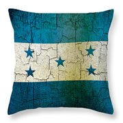 Grunge Honduras Flag Throw Pillow