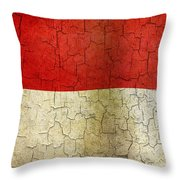 Grunge Indonesia Flag Throw Pillow