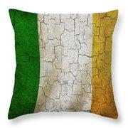 Grunge Ireland Flag Throw Pillow