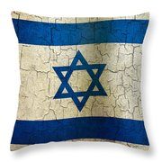 Grunge Israel Flag Throw Pillow