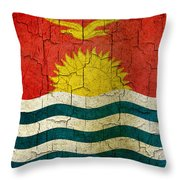 Grunge Kiribati Flag Throw Pillow
