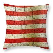 Grunge Liberia Flag Throw Pillow