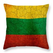 Grunge Lithuania Flag Throw Pillow