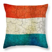 Grunge Luxembourg Flag Throw Pillow
