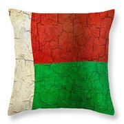 Grunge Madagascar Flag Throw Pillow
