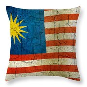 Grunge Malasia Flag  Throw Pillow