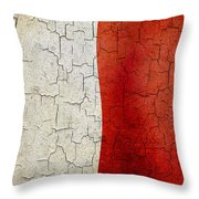 Grunge Malta Flag Throw Pillow
