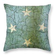 Grunge Micronesia Flag Throw Pillow