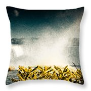 Grunge Niagara Throw Pillow