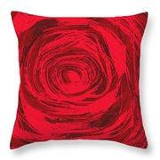 Grunge Rose Throw Pillow