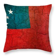 Grunge Samoa Flag Throw Pillow