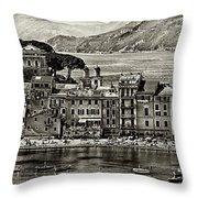 Grunge Seascape Throw Pillow