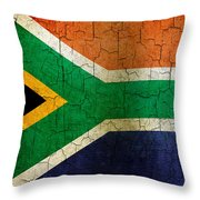 Grunge South Africa Flag Throw Pillow