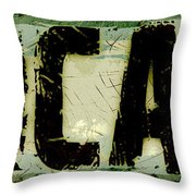 Grunge Style Chicago Sign Throw Pillow