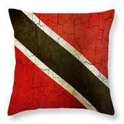 Grunge Trinidad And Tobago Flag Throw Pillow