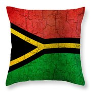Grunge Vanuatu Flag Throw Pillow