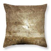 Grunge Wall Throw Pillow