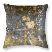 Grungy Cement Wall Throw Pillow