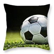 Grungy Grainy Soccer Ball E64 Throw Pillow