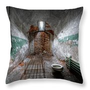 Grungy Prison Cell Throw Pillow