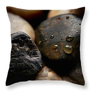 Rocks And Drops Throw Pillow