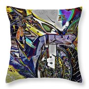 Gsxr Color Throw Pillow