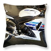 Gsxr1000 In Motion Throw Pillow