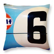 Gt40 Side View Throw Pillow