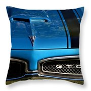 Gto In Blue Throw Pillow
