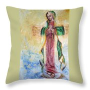Guadalupana Throw Pillow