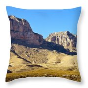 Guadalupe Peaks Throw Pillow