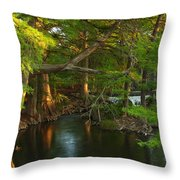 Guadalupe River 2am-115627 Throw Pillow