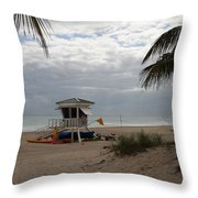 Guarded Area Throw Pillow