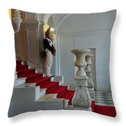Guard At Catherine Palace In Russia Throw Pillow