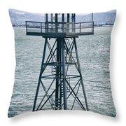 Guard Tower Alcatraz Throw Pillow