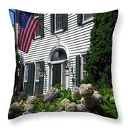 Guarded By Hydrangea Throw Pillow