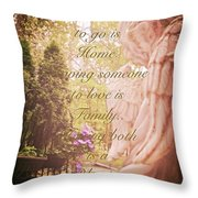 Guardian Angel Blessings Throw Pillow