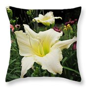 Guardian Angel Daylilies Throw Pillow