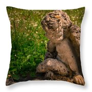 Guardian Angel Throw Pillow by Jean Noren