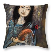 Guardian Angel Of Pheasants Throw Pillow