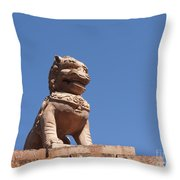 Guardian Chinese Lion Throw Pillow