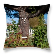 Guardian Of The Flowers Throw Pillow
