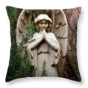 Guardian Of The Garden Throw Pillow