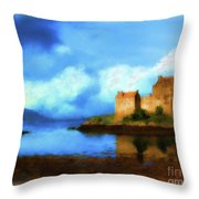 Guardian Of The Loch Throw Pillow
