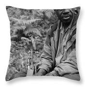 Guardian Of The Mountain Gorillas Throw Pillow