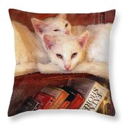 Guardians Of The Library Throw Pillow