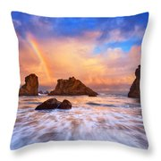 Guardians Of The Sea Throw Pillow by Darren  White